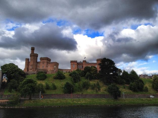 Rembrandt skies at Inverness Castle
