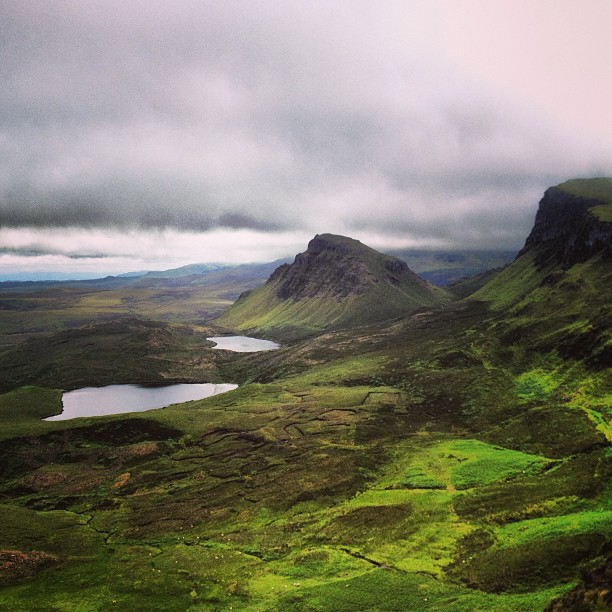 Fifty shades of green at the Quiraing
