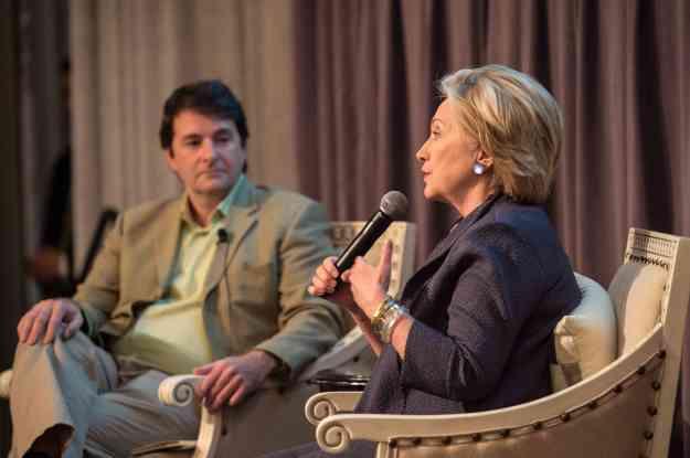 Jose Ferreira of Knewton interviewing Hillary Rodham Clinton