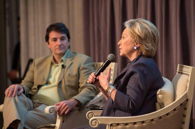 Jose Ferreira of Knewton interviewing Hillary Rodham Clinton