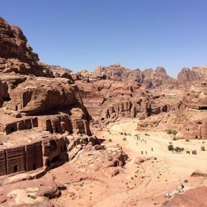 Wadi Musa from the climb. Check out the Street of Facades on the left and Theatre at the end